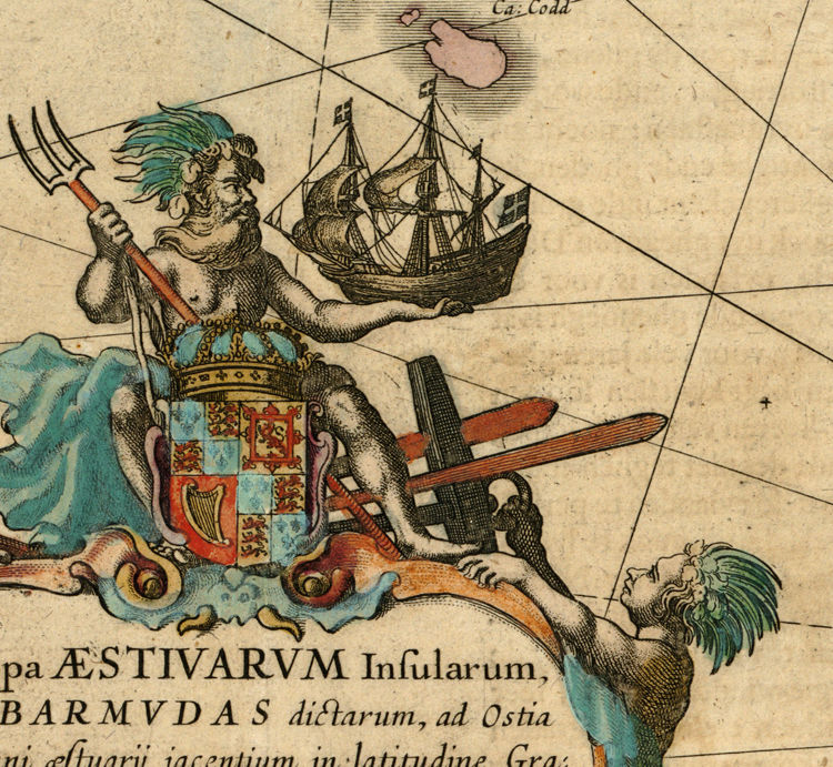 Old Map of Bermuda islands 1662 - product image