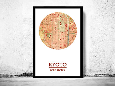 KYOTO,-,city,poster,map,print, KYOTO print, KYOTO  poster, Japan Poster, japanese art, KYOTO , KYOTO map, wall decor, city,asian art,maps, travel poster