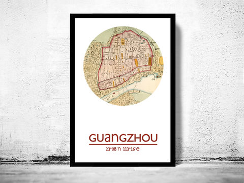 GUANGZHOU,-,city,poster,map,print, GUANGZHOU print, GUANGZHOU  poster, china Poster, chinese art, GUANGZHOU , GUANGZHOU map, wall decor, city,CANTON art,maps, travel poster