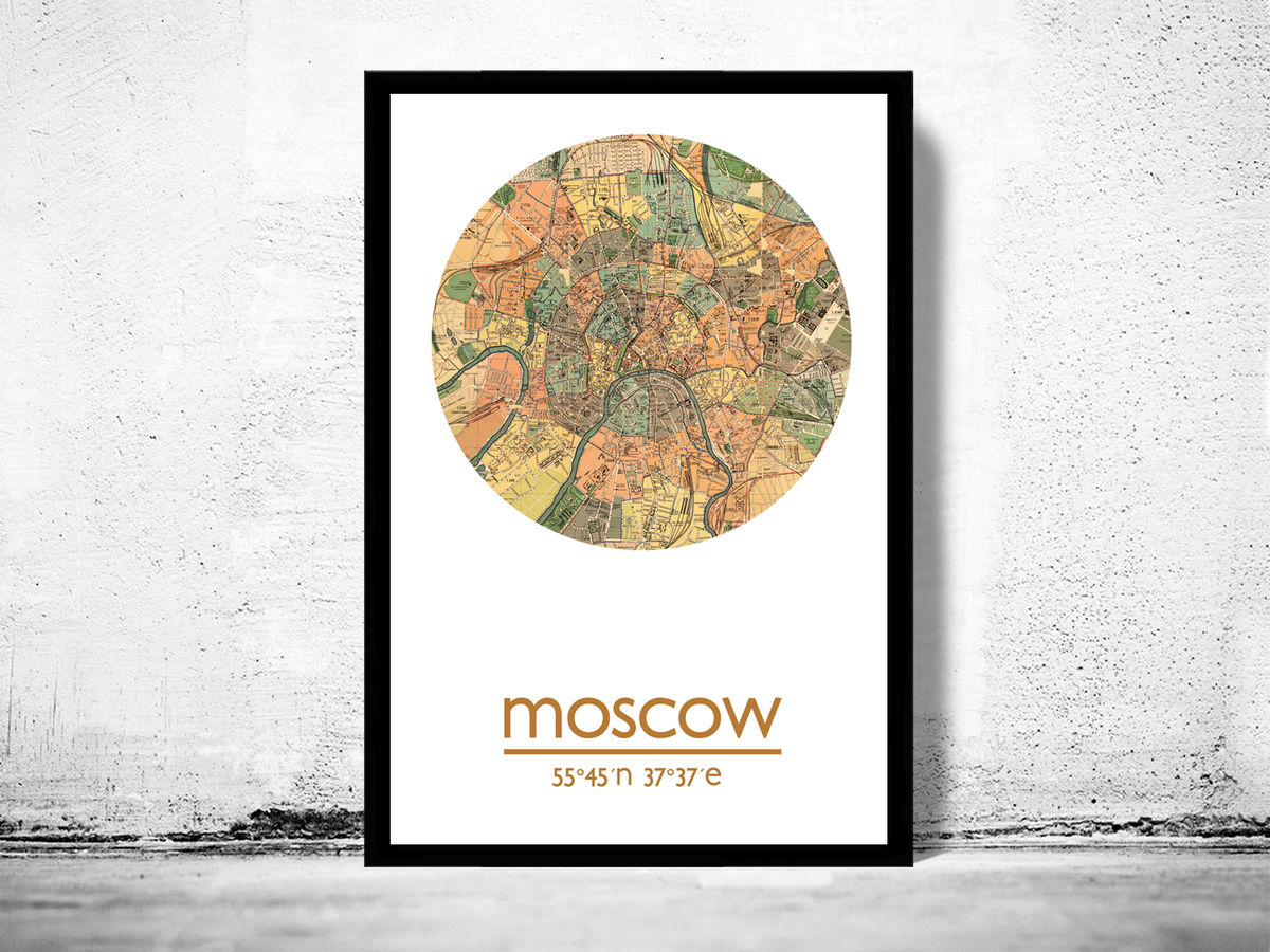 MOSCOW - city poster  - city map poster print - product images  of
