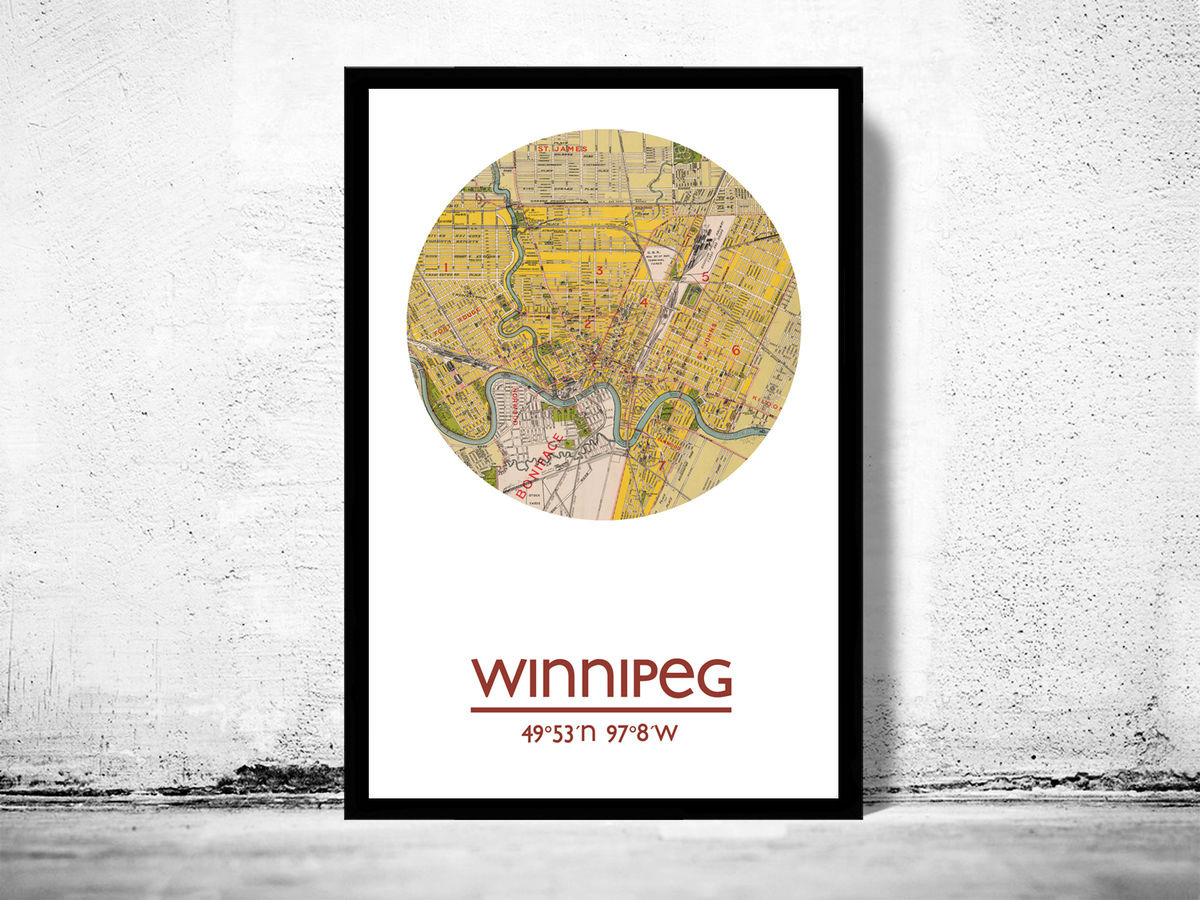 WINNIPEG - city poster - city map poster print - product images  of