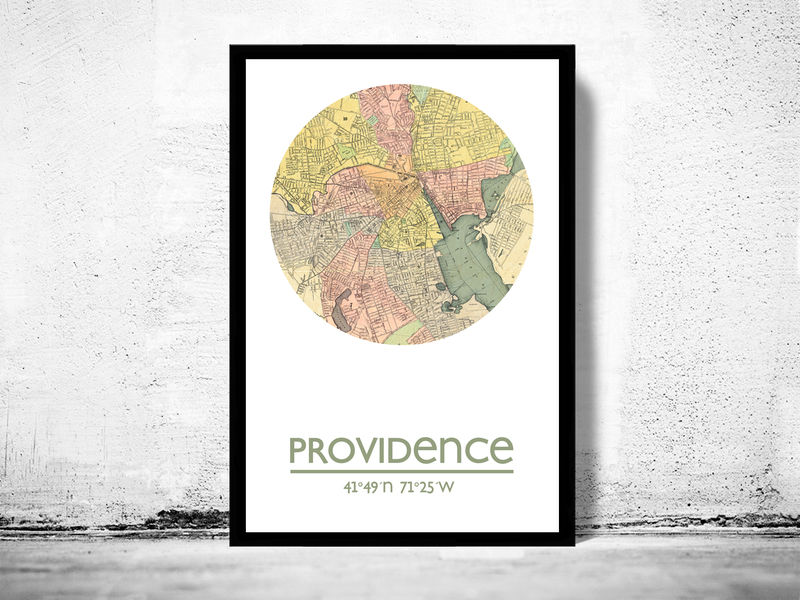 PROVIDENCE - city poster - city map poster print - product image