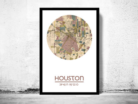 HOUSTON-,city,poster,-,map,print, houston  print, houston  poster, united states Poster, american art, houston , houston map, wall decor, city,maps, travel poster