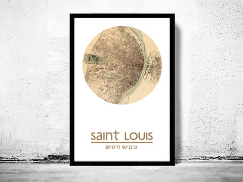 SAINT,LOUIS-,city,poster,-,map,print, SAINT LOUIS print, SAINT LOUIS poster, united states Poster, american art, SAINT LOUIS , SAINT LOUIS map, wall decor, city,maps, travel poster