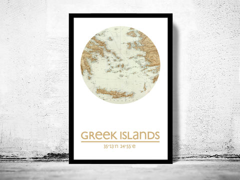 GREEK,ISLANDS,-,city,poster,map,print, GREEK ISLANDS print, CRETA poster, GREECE Poster, GREEK art, CRETA city, GREECE  map, wall decor, city,maps, travel poster