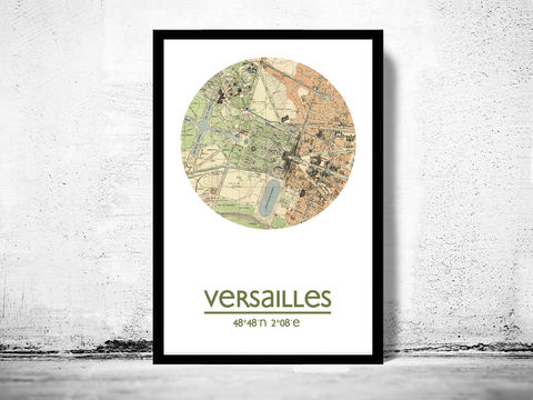VERSAILLES,-,city,poster,map,print, VERSAILLES print, VERSAILLES poster, VERSAILLES Poster, french art, VERSAILLES city, VERSAILLES map, wall decor, city,maps, travel poster