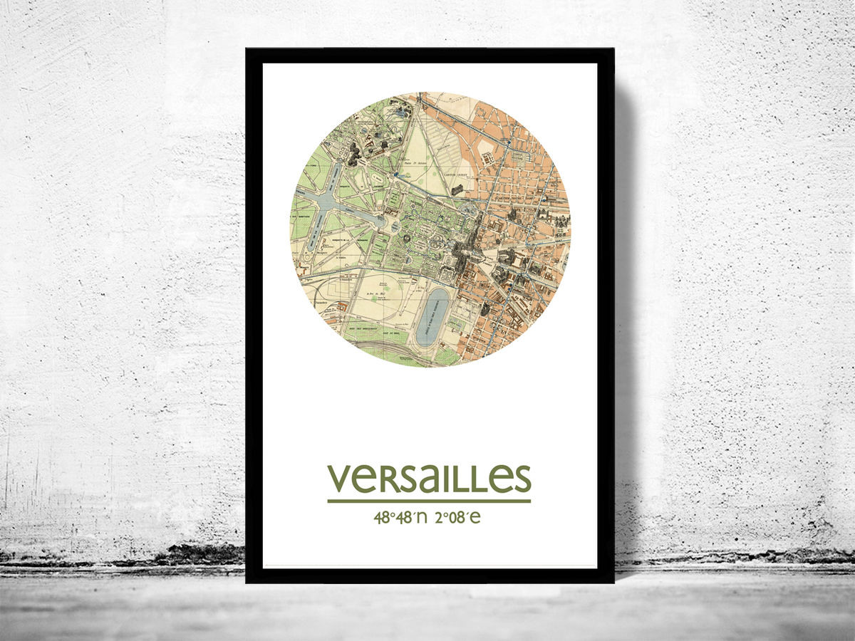 VERSAILLES - city poster - city map poster print - product images  of
