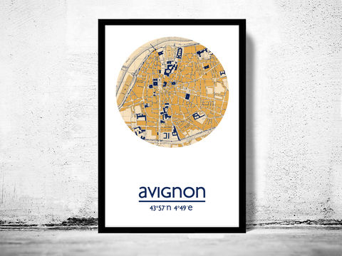 AVIGNON,-,city,poster,map,print, AVIGNON print, AVIGNON poster, AVIGNON Poster, french art, AVIGNON city, AVIGNON map, wall decor, city,maps, travel poster