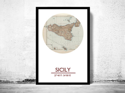 SICILY,-,city,poster,map,print, SICILY print, SICILY poster, SICILIA Poster, italian art, SICILIAN city, SICILY map, wall decor, city,maps, travel poster