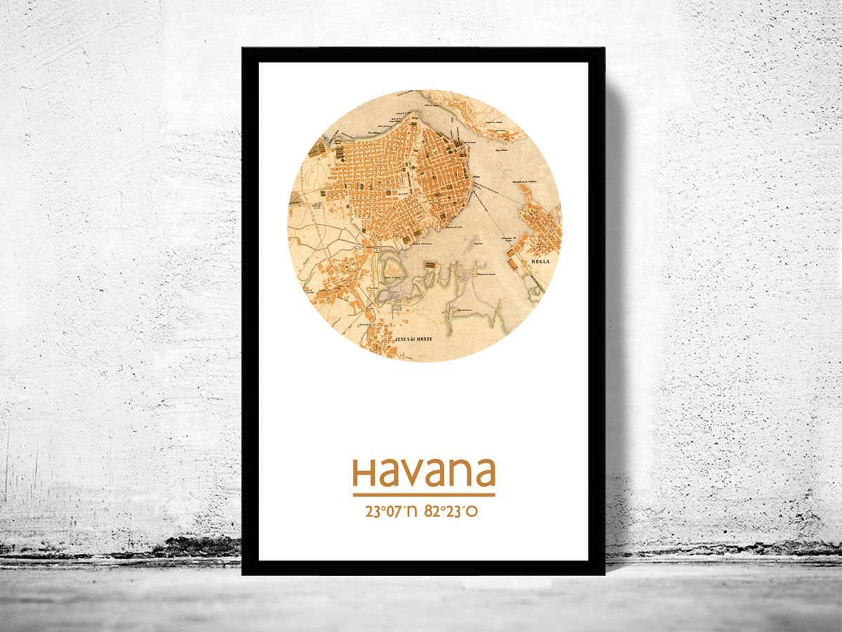 HAVANA - city poster - city map poster print - product images  of