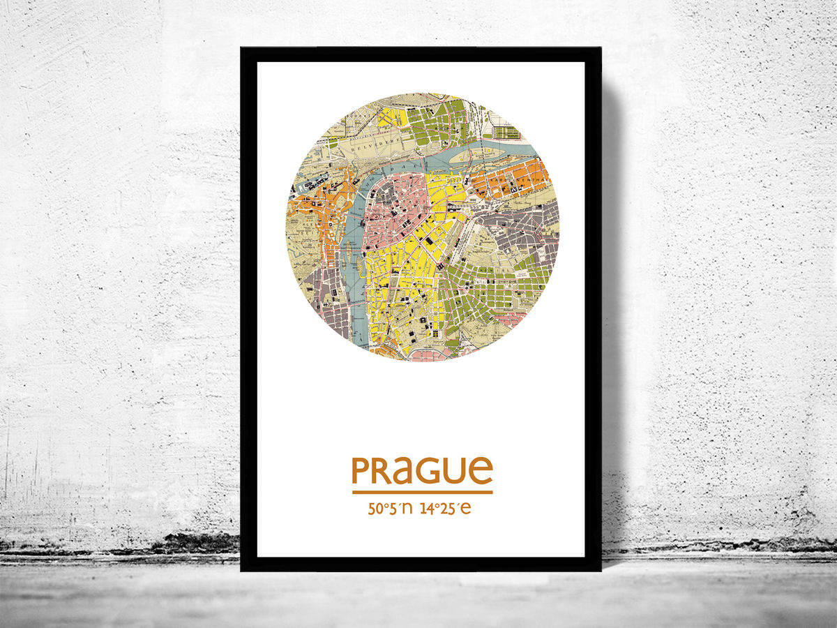 PRAGUE - city poster - city map poster print - product images  of