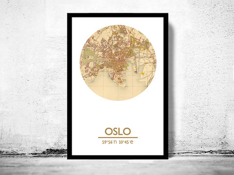OSLO,-,city,poster,map,print, OSLO print, OSLO poster, NORWAY Poster, OSLO art, OSLO, OSLO map, wall decor, city,maps, travel poster