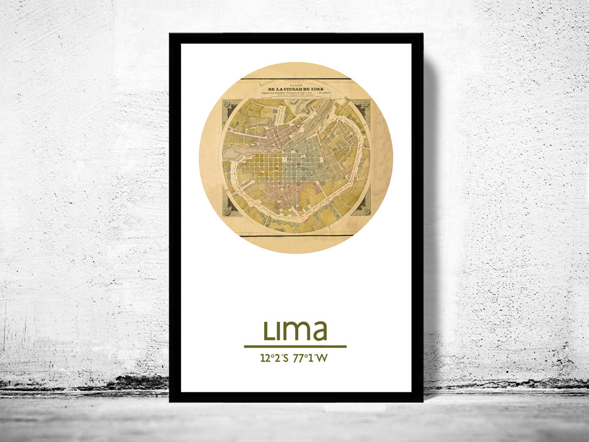 LIMA - city poster - city map poster print - product images  of