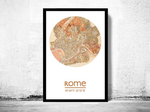 ROME,-,city,poster,map,print, rome print, rome poster, rome Poster, italian art, roman city, rome map, wall decor, city,maps, travel poster