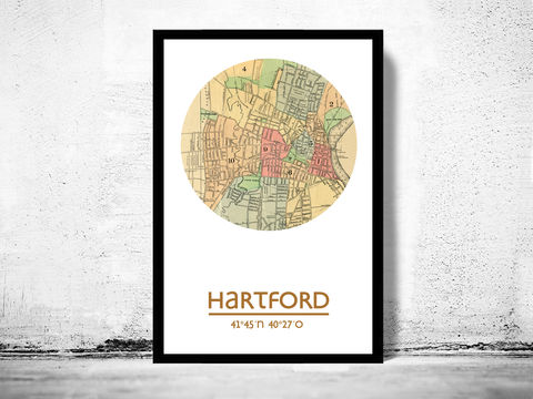 HARTFORD,-,city,poster,map,print, HARTFORD print, HARTFORD poster, united states Poster, american art, HARTFORD, HARTFORD map, wall decor, city,maps, travel poster