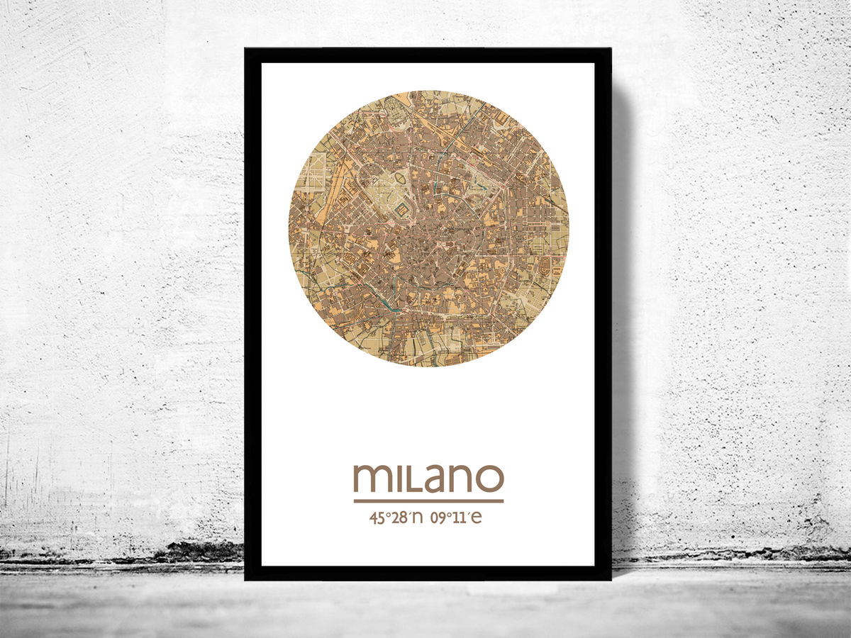 MILAN MILANO - city poster - city map poster print - product images  of