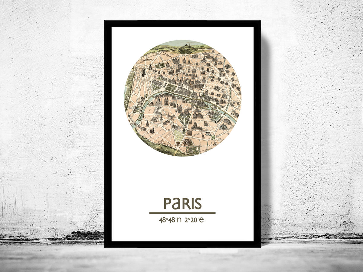 PARIS - city poster (2) - city map poster print - product images  of