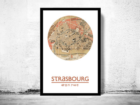 STRASBOURG,-,city,poster,map,print,Art,Reproduction,Open_Edition,strasbourg_print,strasbourg__poster,france_Poster,french_art,strasbourg,strasbourg__map,wall_decor,maps,travel_poster