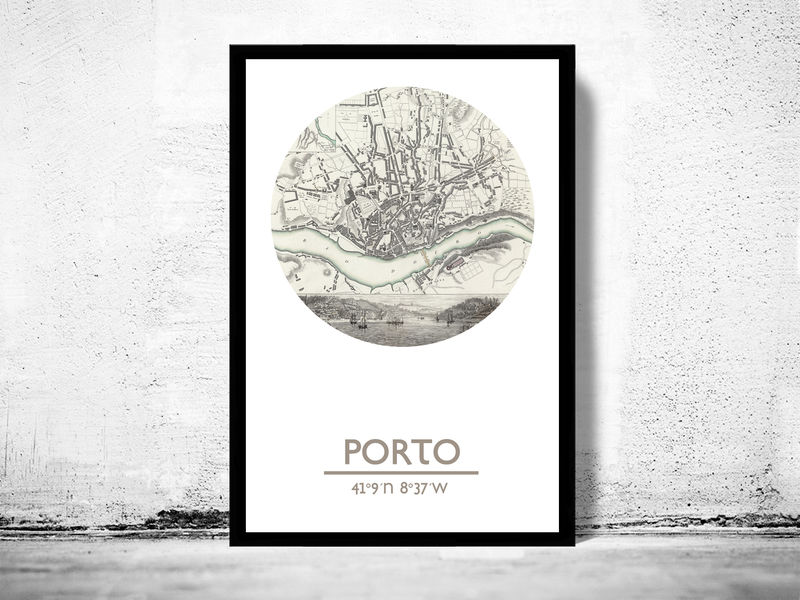 PORTO - city poster - city map poster print - product image