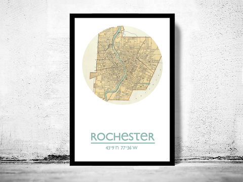 ROCHESTER,-,city,poster,map,print,Art,Reproduction,Open_Edition,rochester_print,rochester_poster,american_art,rochester,rochester_map,wall_decor,maps,travel_poster