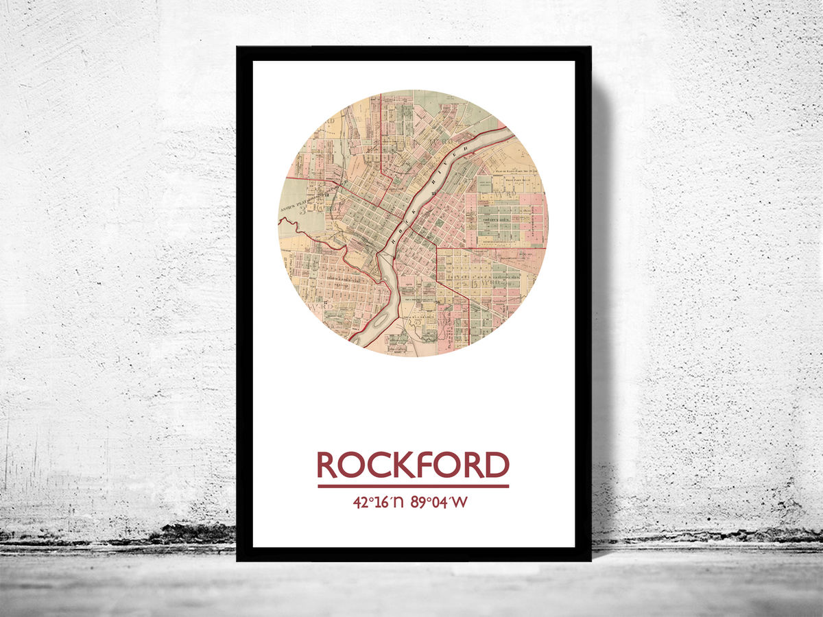 ROCKFORD - city poster - city map poster print - product images  of