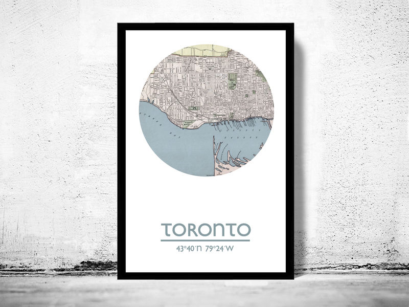 TORONTO - city poster - city map poster print - product image