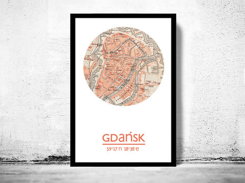 GDANSK,-,city,poster,map,print,Art,Reproduction,Open_Edition,GDANSK_print,GDANSK_poster,POLAND_Poster,poland_art,GDANSK_city,poland_map,wall_decor,maps,travel_poster