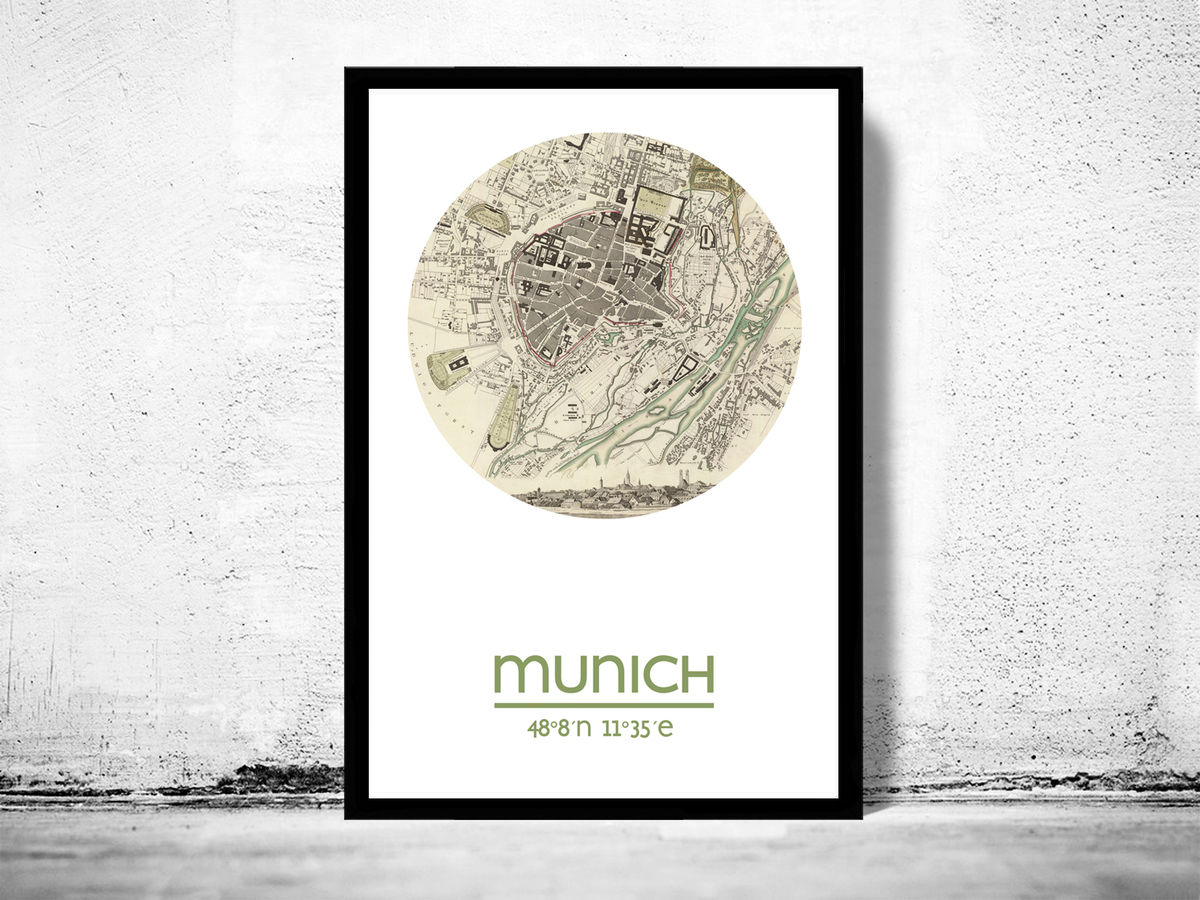 MUNICH - city poster - city map poster print - product images  of
