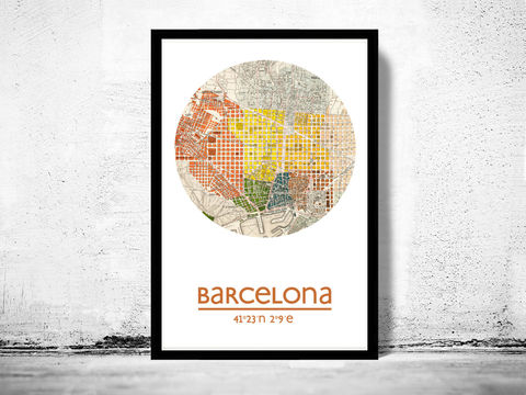 BARCELONA,-,city,poster,map,print,Art,Reproduction,Open_Edition,barcelona_print,barcelona_poster,Spain_Poster,spanish_art,Barcelona,barcelona_map,wall_decor,maps,travel_poster
