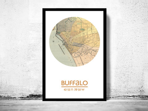 BUFFALO,-,city,poster,map,print,Art,Reproduction,Open_Edition,buffalo_print,new_york_poster,buffalo_Poster,american_art,new_york,buffalo_map,wall_decor,maps,travel_poster