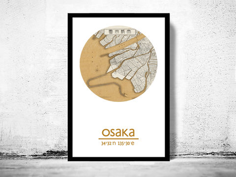 OSAKA,-,city,poster,map,print,Art,Reproduction,Open_Edition,OSAKA_print,OSAKA__poster,Japan_Poster,japanese_art,OSAKA_map,wall_decor,asian_art,maps,travel_poster