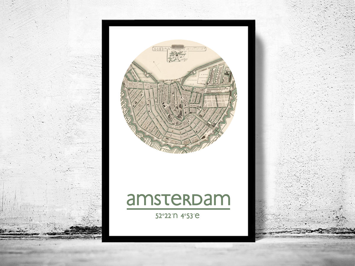 AMSTERDAM - city poster - city map poster print - product images  of