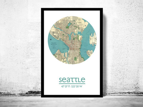 SEATTLE,-,city,poster,map,print,Art,Reproduction,Open_Edition,SEATTLE_print,SEATTLE_poster,washington_Poster,american_art,SEATTLE_map,wall_decor,maps,travel_poster