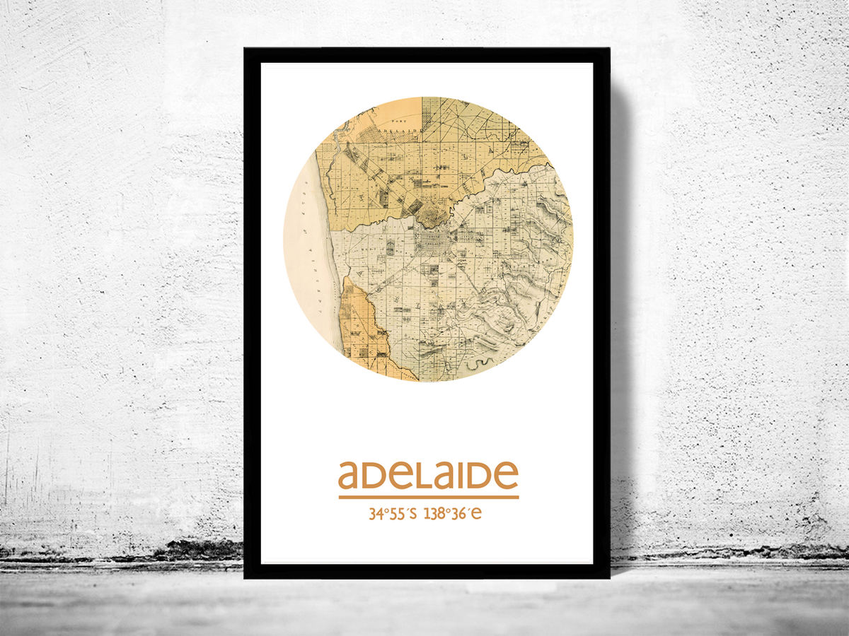 ADELAIDE - city poster - city map poster print - product images  of