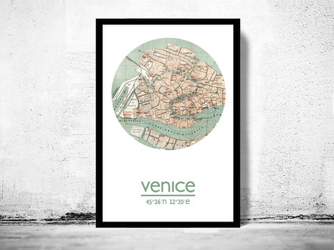 VENICE,-,city,poster,map,print,Art,Reproduction,Open_Edition,venice_print,rome_poster,venice_Poster,italian_art,venice_city,venice_map,wall_decor,maps,travel_poster