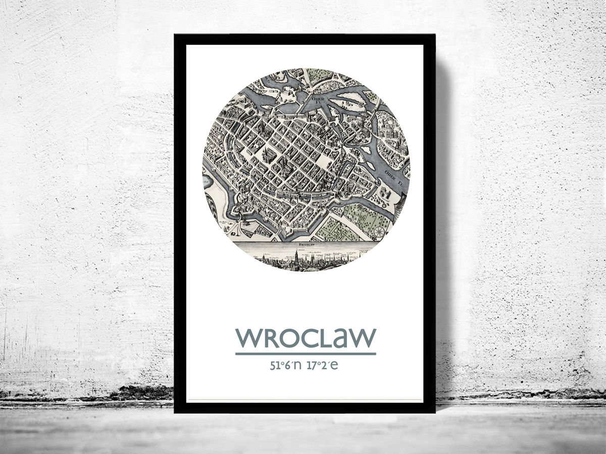 WROCLAW - city poster - city map poster print - product images  of