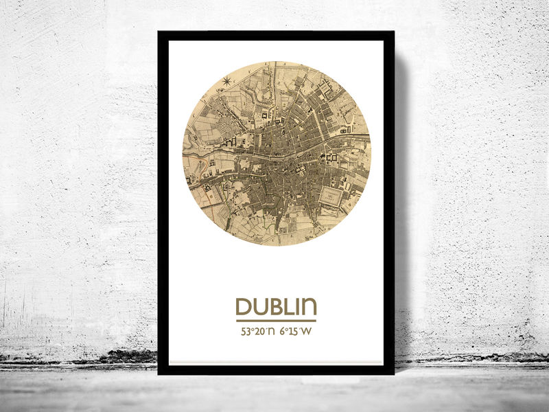 DUBLIN - city poster - city map poster print - product image