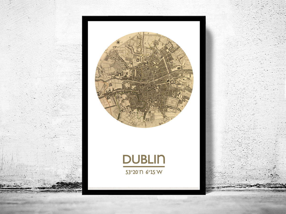 DUBLIN - city poster - city map poster print - product images  of