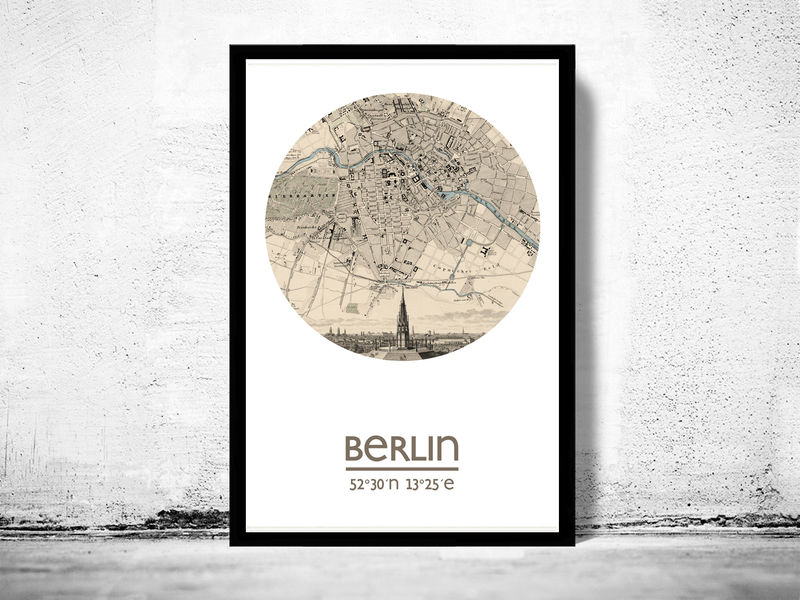 BERLIN - city poster - city map poster print - product image