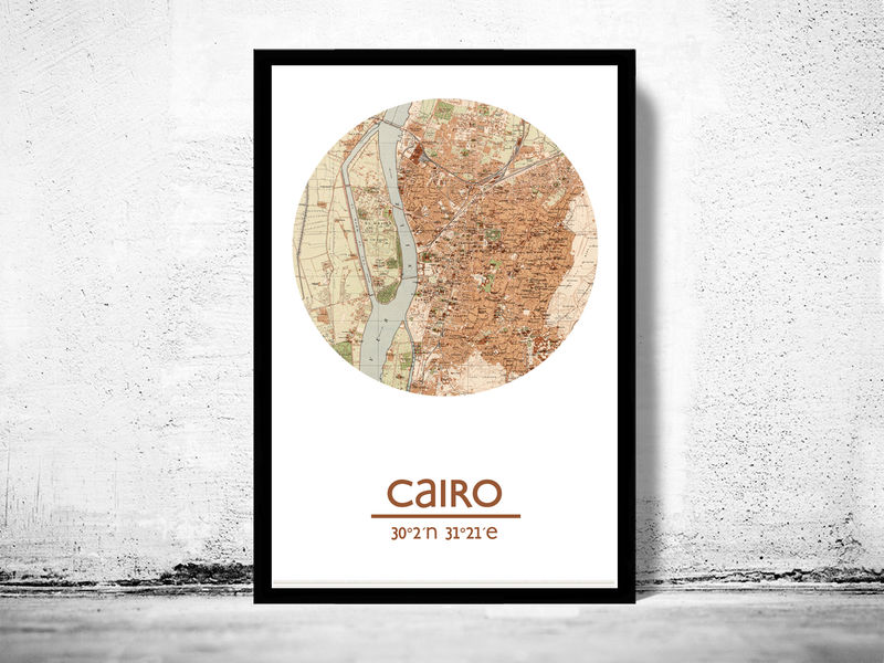 CAIRO - city poster - city map poster print - product image