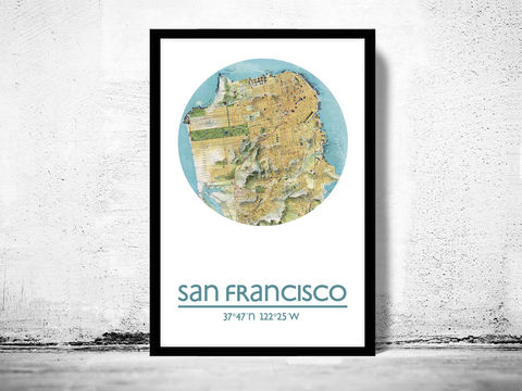 SAN,FRANCISCO,-,city,poster,map,print,Art,Reproduction,Open_Edition,san_francisco__print,united_states_Poster,american_art,san_francisco,san_francisco_map,wall_decor,maps,travel_poster,SAN_FRANCISCO_POSTER