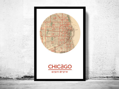 CHICAGO,-,city,poster,map,print,Art,Reproduction,Open_Edition,chicago_print,chicago_poster,united_states_Poster,american_art,chicago,chicago_map,wall_decor,maps,travel_poster