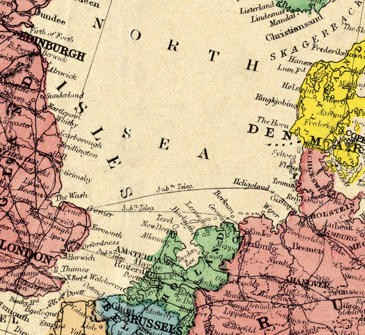 Old Europe Map 1870 - product image