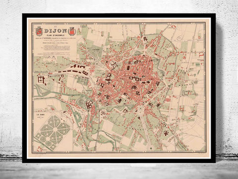 OLD CITY MAPS Collection - OLD MAPS AND VINTAGE PRINTS