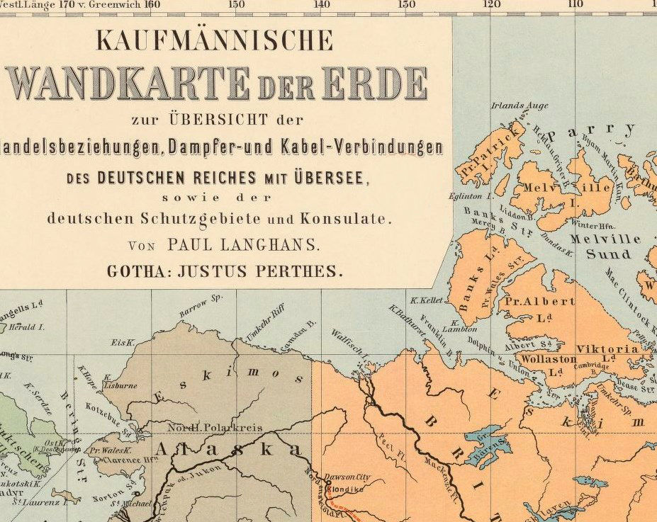 World Map Vintage Atlas 1899 German edition - product images  of