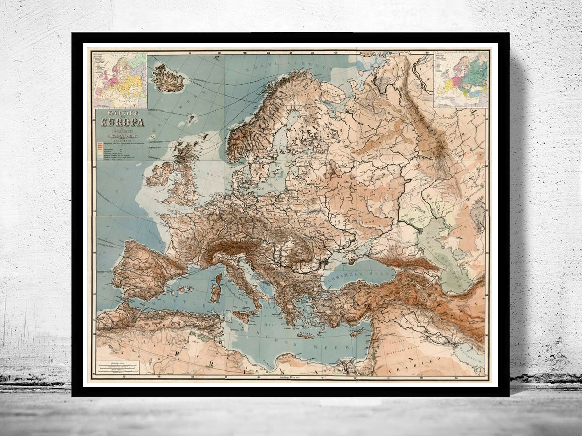 Old Europe Map 1875 German Edition - product images  of