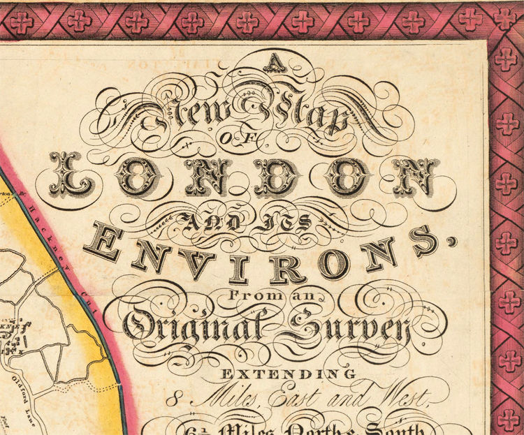 Old London Map 1822  - product images  of
