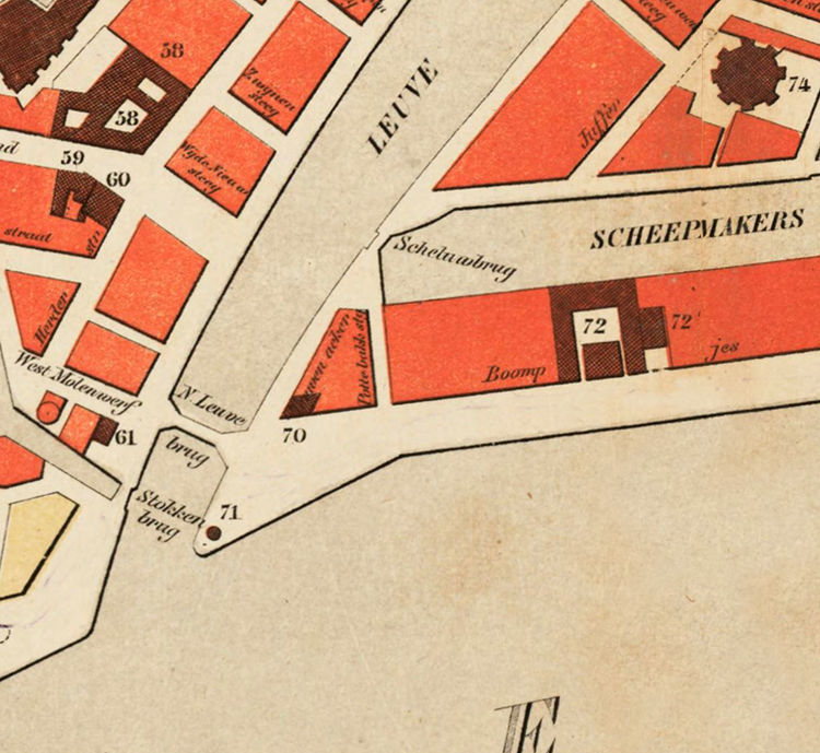 Old Map of Rotterdam, Netherlands 1865 - product images  of