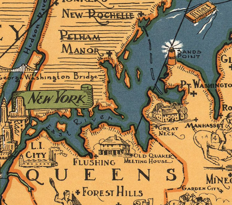 Vintage Map of Long Island - product images  of