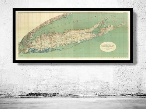 Vintage,Map,of,Long,Island,1913,map of long island, long island poster, long island map, long island print, new york long island, maps, old maps, antique maps